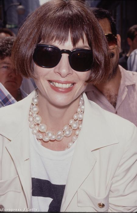 Anna Wintour, az amerikai Vogue főszerkesztője, 1990-ben
