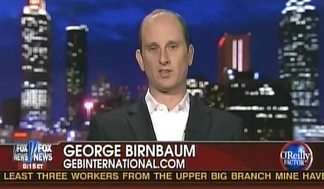 George E. Birnbaum a legnézettebb republikánus politikai műsorban, a O'reilly Factorban meghívott szakértőként szerepel
