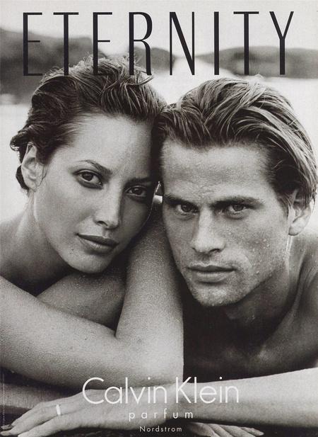 Christy Turlington és Mark Vanderloo a Calvin Klein Eternity nevű parfümjének reklámjában a '90-es években