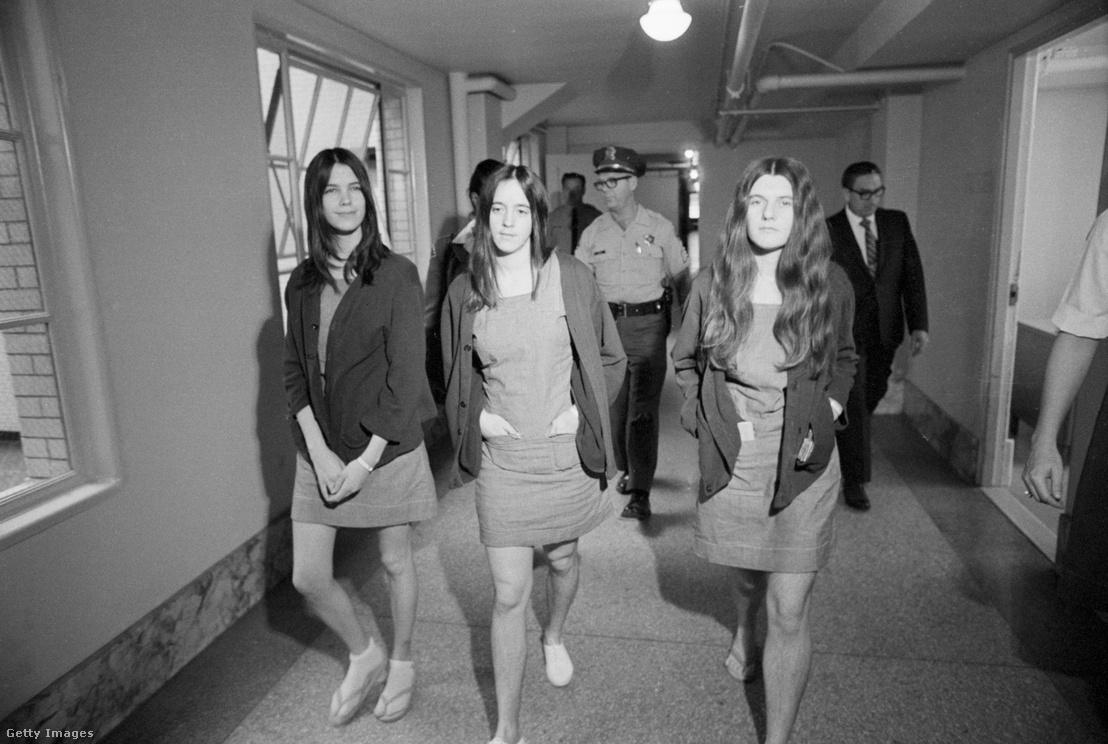 Leslie Van Houten, Susan Atkins, és Patricia Krenwinkel. (1970)