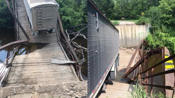 Hallgatott a navira, történelmi hidat rombolt a kamionos Dakotában