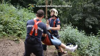 A libegővel mentették ki a bajbajutott idős kirándulót a tűzoltók