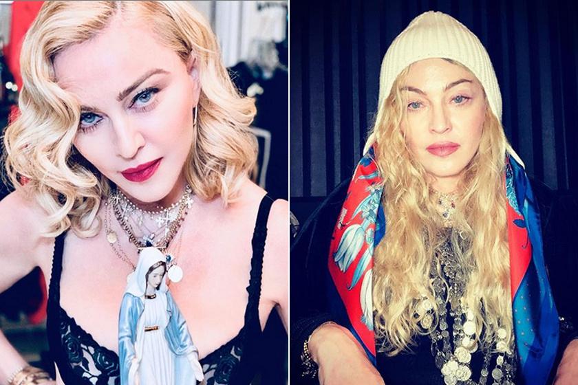 Madonna nem szégyelli make up nélküli arcát, gyakran megmutatja magát a rajongóknak több réteg smink nélkül is.