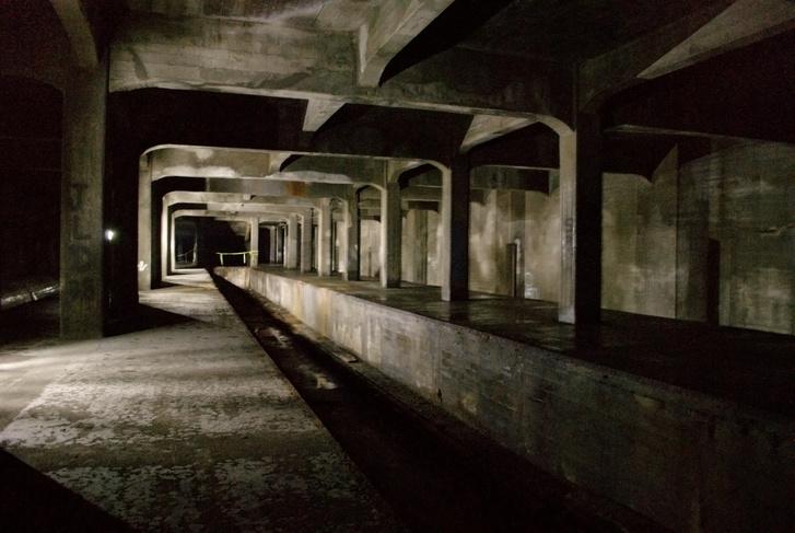 A cincinnati metró egyik félkész állomása