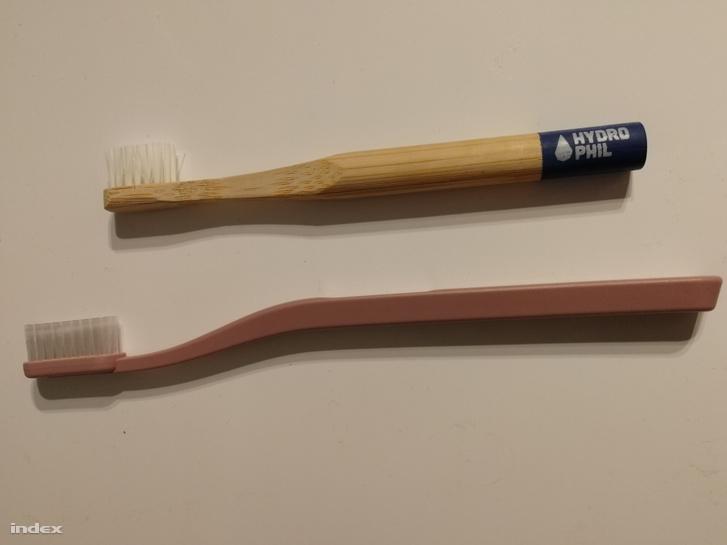 Bambuszfogkefe és újrahasznosított fogkefe