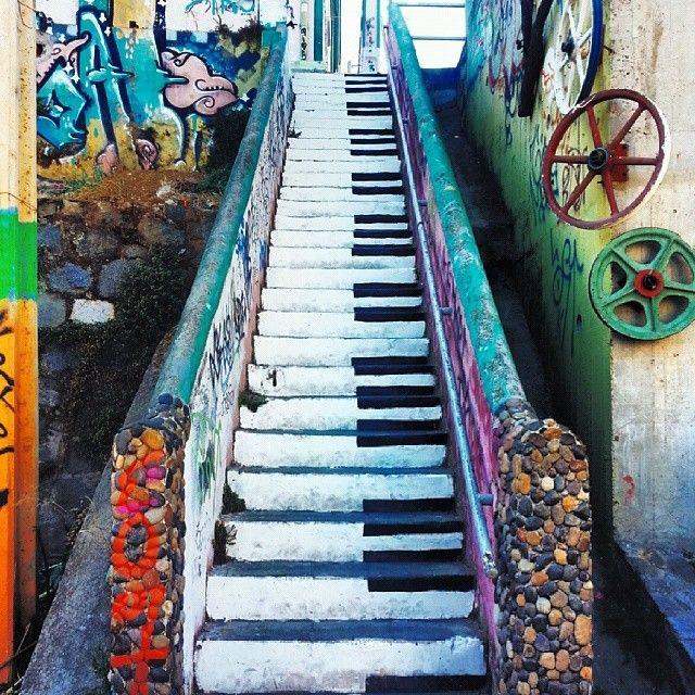 Ez a chilei lépcső nem zenél, de ettől még csodás lehet végigmenni rajta