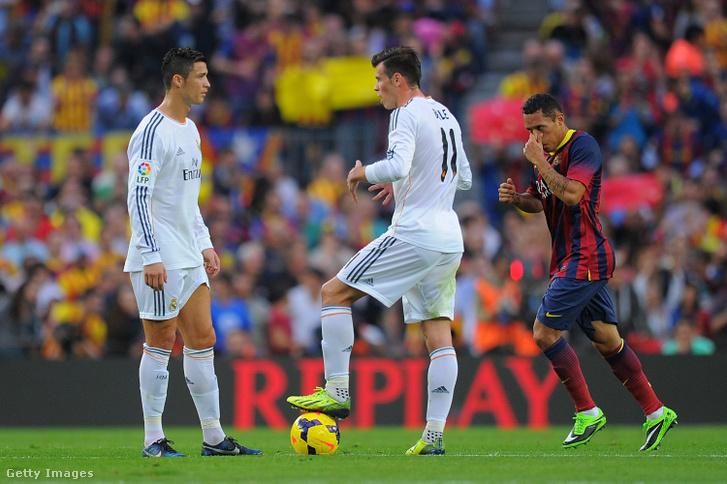 Cristiano Rolando és Gareth Bale a Real Madrid - Barcelona mérkőzésen 2013. október 26-án