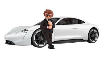 Filmszerepet kap a Porsche villanyautója