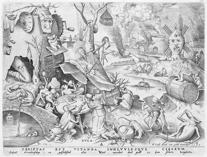 Pieter van der Heyden: A falánkság (A hét főbűn-sorozat, 16. század)