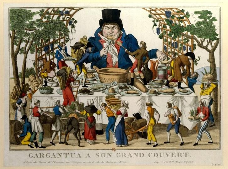 Gargantua hatalmas lakomája (ismeretlen szerző, 18. század)