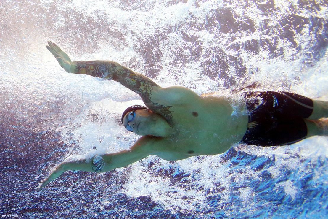 Caeleb Dressel az 50 méteres pillangó kvangdzsui világbajnokság döntőjében 2019. július 22-én