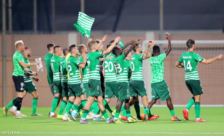 A Ferencváros játékosai, miután 1-1-es döntetlent játszottak a Valletta FC elleni visszavágón a labdarúgó Bajnokok Ligája selejtezőjének második fordulójában Ta' Qaliban 2019. július 30-án