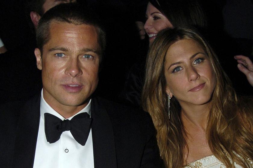 Ez volt Brad Pitt és Jennifer Aniston első közös fotója a vörös szőnyegen - Teljesen másképp festettek