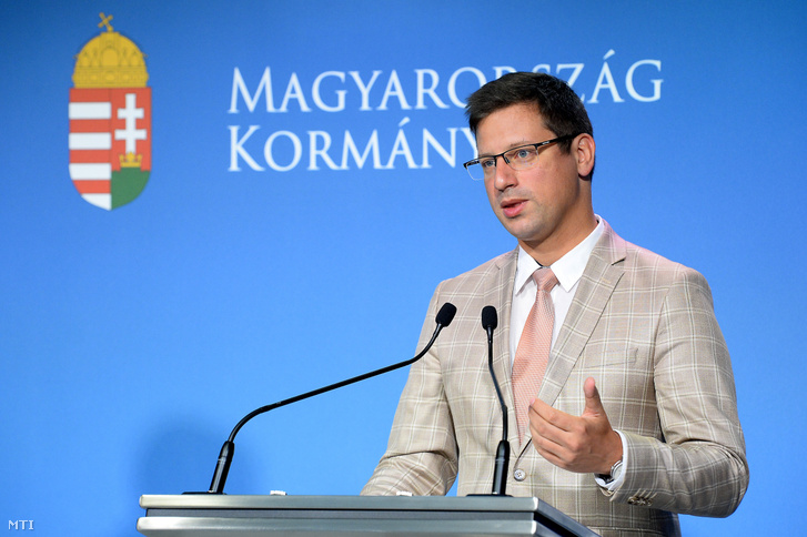 Gulyás Gergely Miniszterelnökséget vezető miniszter a Kormányinfó sajtótájékoztatón a Miniszterelnöki Kabinetiroda Garibaldi utcai sajtótermében 2019. július 31-én.