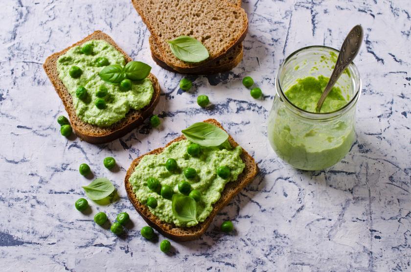 A zöldborsó bőséggel tartalmaz K- és A-vitamint, káliumot és szelént, a belőle készült, mentával ízesített krémben ráadásul a fokhagyma és az olívaolaj is szívvédő hatású.