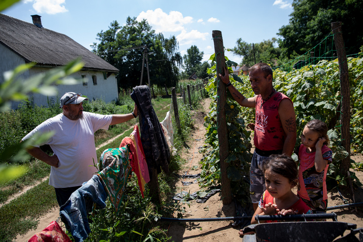 Papp Sándorék az idén kerültek a Kiútprogramba, most vették fel az első hitelt. Önerőnek csak a kertjüket kellett adni, minden mást a program biztosított.