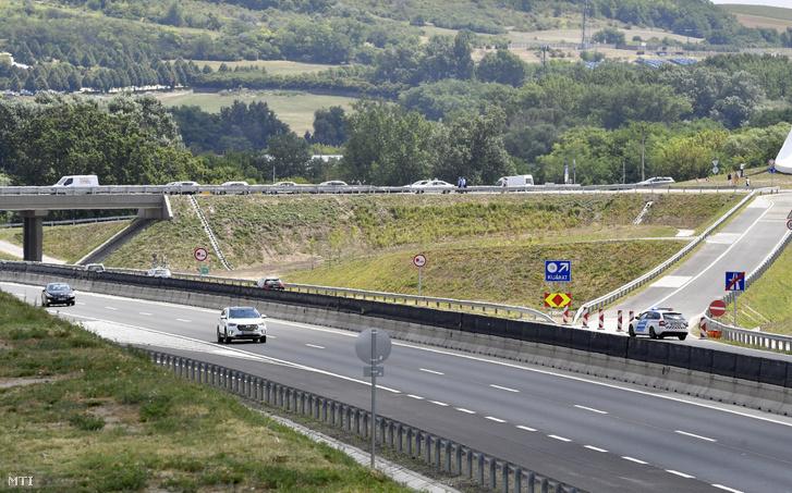 A Mogyoród és Fót megközelítését szolgáló új M3 autópálya-csomópont Mogyoródnál az átadóünnepség napján 2019. július 24-én.