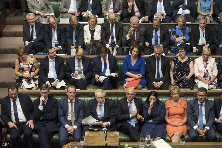 Boris Johnson miniszterelnök beszél a brit parlamentben, Londonban 2019. július 25-én