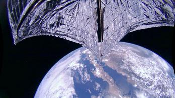 Működik a napvitorlás műhold