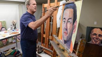 Kiállítás nyílik a fiatalabbik Bush festményeiből