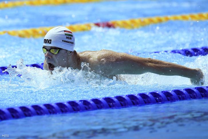 Kenderesi Tamás a férfi 200 méteres pillangóúszás elődöntőjében a 18. vizes világbajnokságon a dél-koreai Kvangdzsuban 2019. július 23-án.