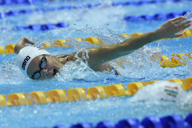 Kapás Boglárka a női 200 méteres pillangóúszás előfutamában a 18. vizes világbajnokságon a dél-koreai Kvangdzsuban 2019. július 24-én.
