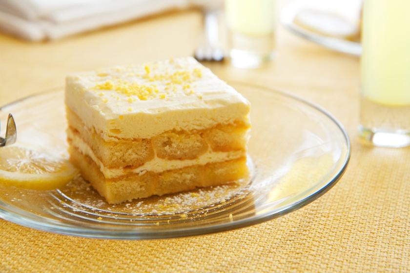 Citromkrémes, babapiskótás süti: sütés nélküli isteni desszert