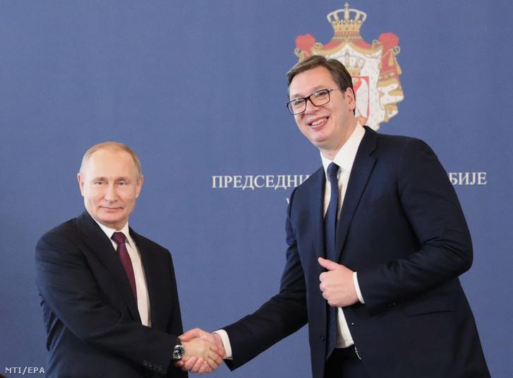 Vlagyimir Putyin és Aleksandar Vucic