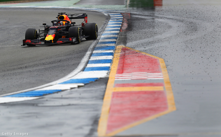 Max Verstappen a hockenheimi versenyen