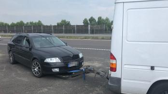 Újabb unortodox román vontatás a magyar autópályán