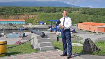Medvegyev megint elment a Tokió szerint japán szigetre