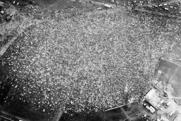 Több mint 100 000 néző a fesztiválon 1969 augusztus 15-én