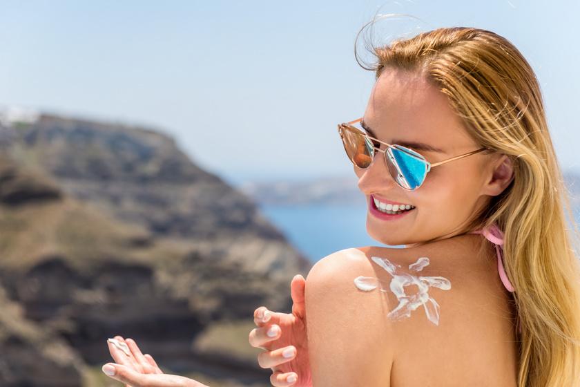 bőrápolás, naptej nyáron, kiütések ellen