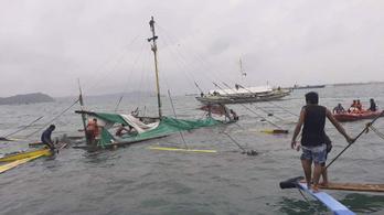 Három komp balesetében 11 halott a Fülöp-szigeteki ítéletidőben