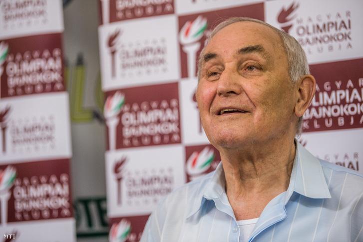 Ambrus Miklós olimpai bajnok vízilabdázó 2018. június 1-jén.