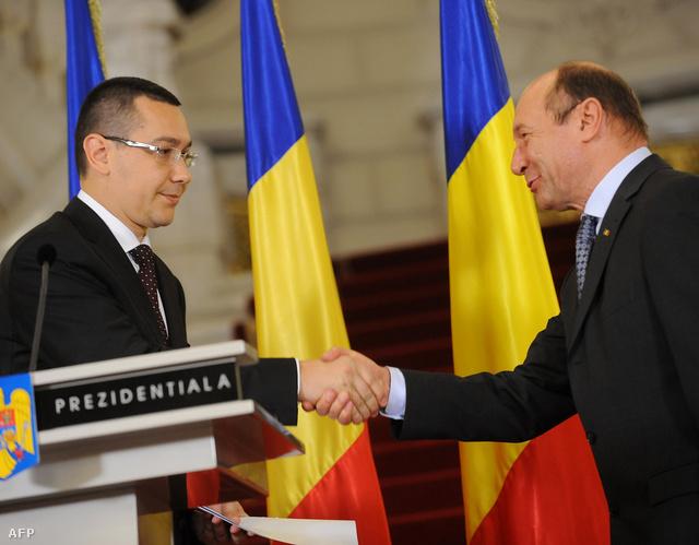 Victor Ponta miniszterelnök fogadja Traian Băsescu elnök gratulációját