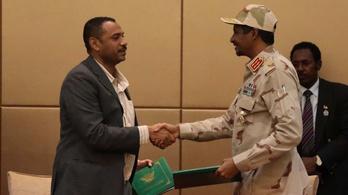 Megállapodtak Szudánban a közös civil-katonai kormányról