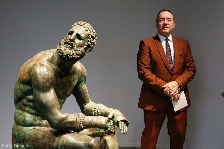"Kevin Spacey a ""The Boxer - La nostalgia del poeta"" című eseményen a Palazzo Massimo alle Termében, Rómában 2019. augusztus 2-án"