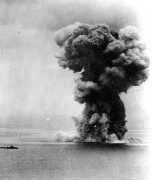 Felrobban a Jamato lőszerraktára