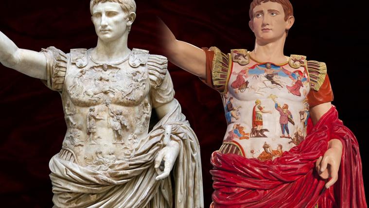 Az antik márványszobrok eredetileg színesek voltak
