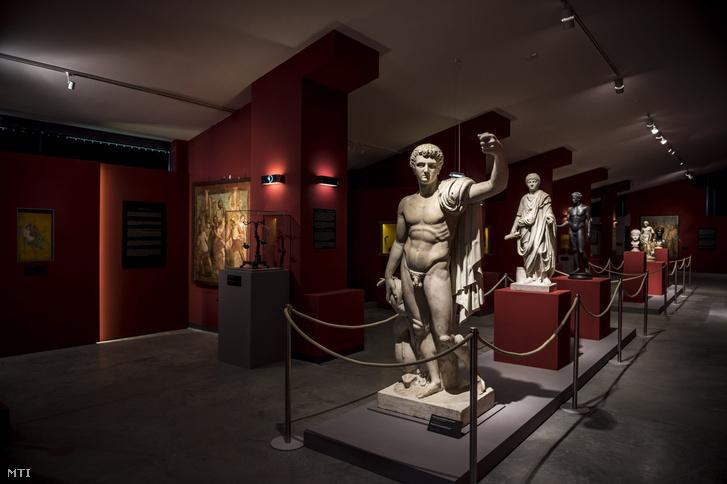 A Pompeji - Élet és halál a Vezúv árnyékában című kiállítás a táci Gorsium látogatóközpontjában 2017. március 27-én.