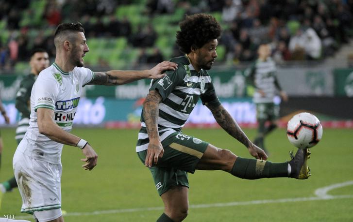 Isael a Szombathely ellen egy 2019. márciusi mérkőzésen