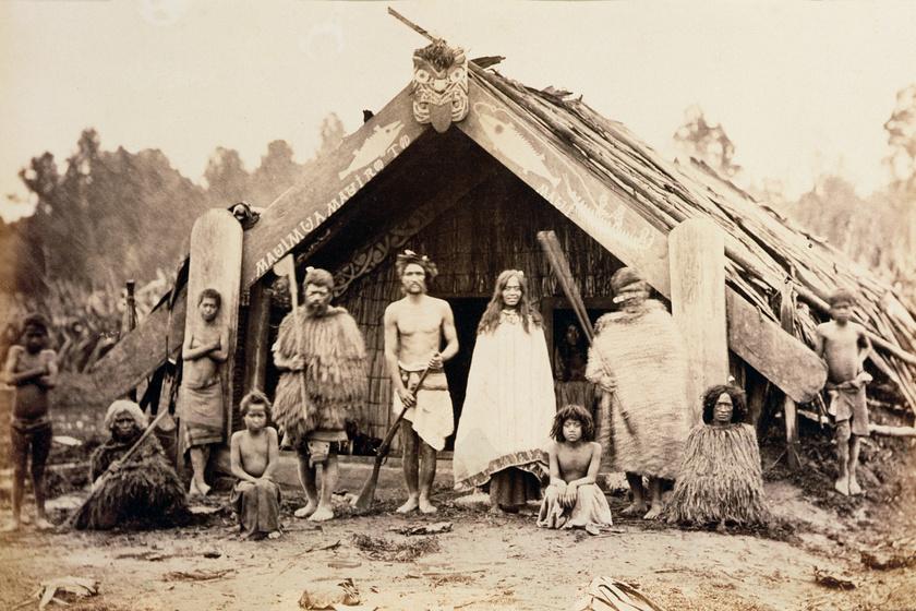Maori család az 1880-as években.
