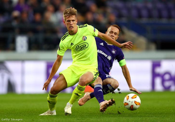 Dani Olmo egy Európa liga-meccsen 2018-ban