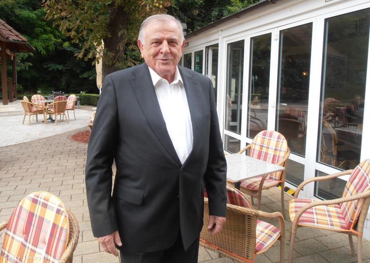 Vladimír Mečiar volt szlovák kormányfő Teplicében 2017. augusztus 22-én