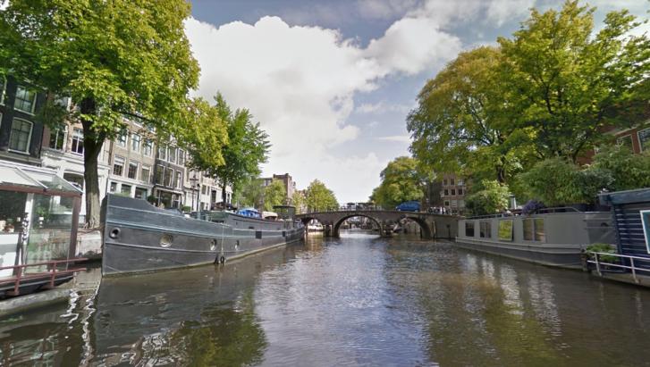 Korte Prinsengracht csatorna Amszterdamban