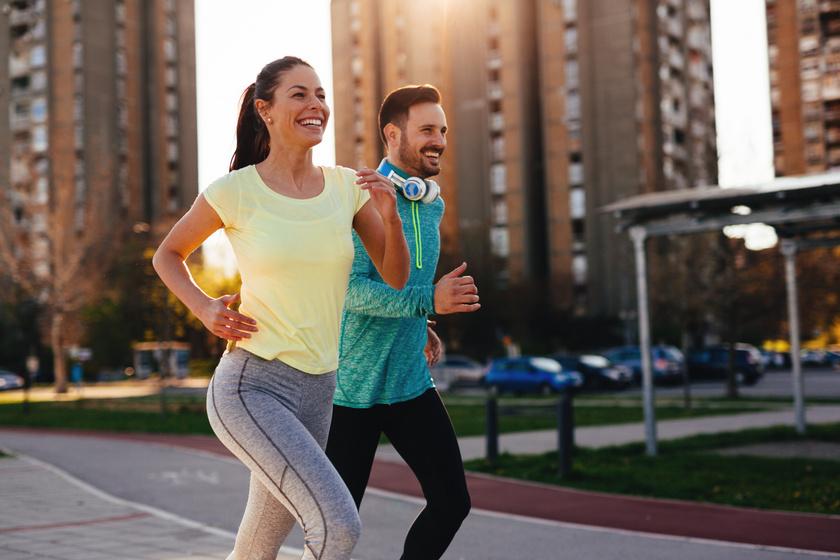 futás, nő és férfi