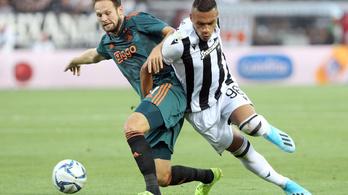 Az Ajax összebotladozott egy döntetlent a PAOK elleni BL-selejtezőn
