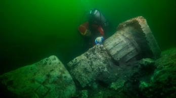 Ókori kincseket találtak az elsüllyedt egyiptomi város maradványai között