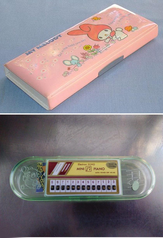 Kukkantsunk be az iskolatáskába is! A nyolcvanas években sokaknak volt dobozszerű, illetve mini zongorás, zenélő tolltartója.
